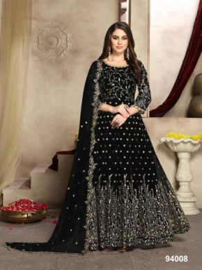 Aanaya 94 New Colors Wedding Wear Georgette Rich Look Collection b2btextile.in