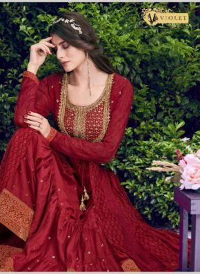 Swagat Violet 6401 Series Heavy Rich Look Wedding Wear Collection b2btextile.in