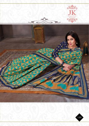 Jk Keshar Pista 1 Casual Wear Printed Cotton Sarees Collection b2btextile.in