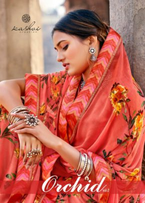 Kashvi Orchid 2 Casual Wear Printed Georgette Sarees Collection b2btextile.in