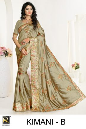 Ronisha Kimani Embroidery Worked Saree Collection b2btextile.in