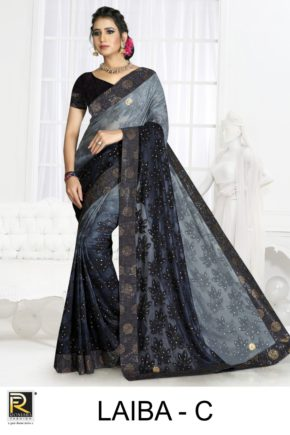 Ronisha Laiba Casual Wear Saree Collection b2btextile.in