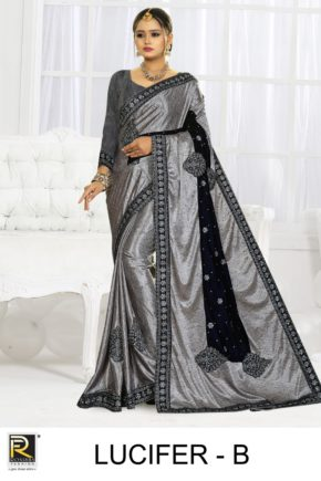 Ronisha Lucifer Embroidery Worked Designer Saree Collection b2btextile.in