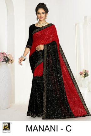 Ronisha Manani Casual Wear Brasso Sarees Collection b2btextile.in