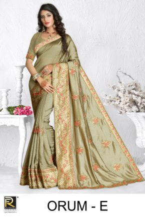 Ronisha Orum Embroidery Worked Saree Collection b2btextile.in