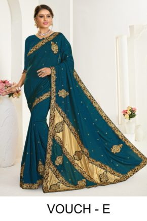 Ronisha Vouch Casual Wear Embroidery Worked Sarees Collection b2btextile.in