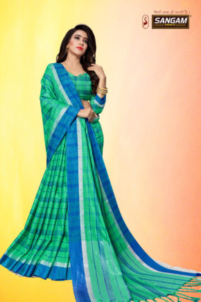 Sangam Red Carpet 3 Casual Wear Cotton Linen Sarees Collection b2btextile.in