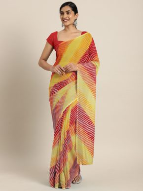 Shaily Bandhani Regular Wear Georgette Sarees Collection b2btextile.in