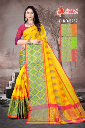 Sharp 9262 Casual Wear Handloom Cotton Sarees Collection b2btextile.in