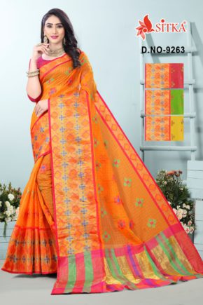 Sharp 9263 Casual Wear Cotton Saree Collection b2btextile.in