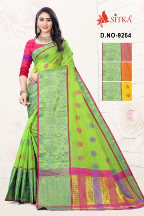 Sharp 9264 Casual Wear Handloom Cotton Sarees Collection b2btextile.in