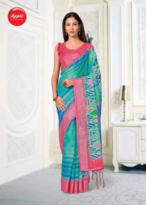 Apple Aaradhana 12 Ethnic Wear Printed Saree Collection b2btextile.in