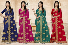 Kalista Nivika Nx Party Wear Silk Embroidered Saree Collection b2btextile.in