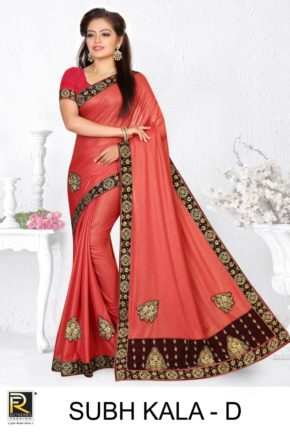 Ronisha Subh Kala Embroidery Worked Saree Collection b2btextile.in