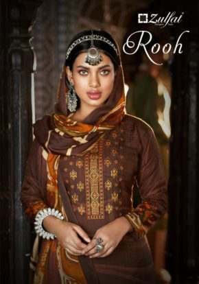 Belliza Rooh Pure Pashmina Embroidered Salwar Suit Collection b2btextile.in