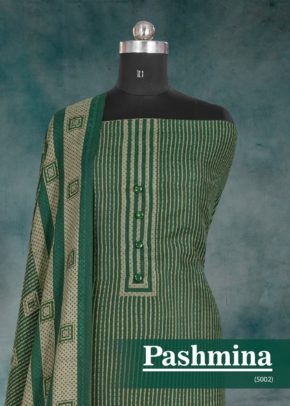 Bipson Woollen Pashmina 5002 Printed Winter Collection Dress Material b2btextile.in