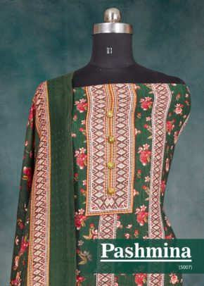 Bipson Woollen Pashmina 5007 Printed Winter Collection Dress Material b2btextile.in