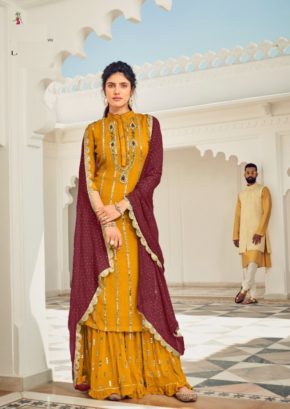 Eba Dhoop Kinarey Faux Georgette With Embroidery Salwar Suit b2btextile.in
