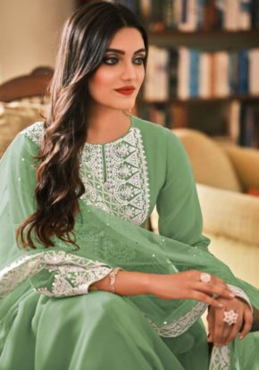 Eba Dil Noor Pure Georgette Embroidered Salwar Suit b2btextile.in