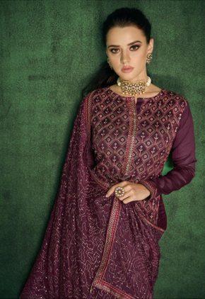 Gramo Sukun 2 Chinon Embroidered Heavy Handwork Salwar Suits b2btextile.in