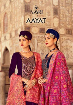 Naari Aayat 9000 Viscose Velvet with Multi work Sarara Suit b2btextile.in